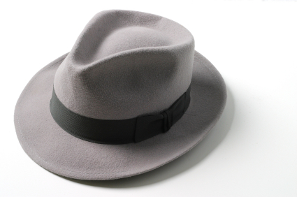 fedora-black-and-white