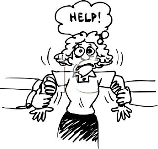 0511-1011-3019-4514_stressed_woman_being_pulled_in_two_directions_clipart_image
