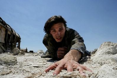 Crawling nthrough desert