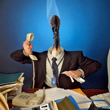 Workplace burnout illustration